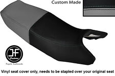 GREY AND BLACK VINYL CUSTOM FITS HONDA CB 350 SG S-G DUAL SEAT COVER