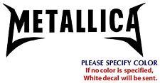 "METALLICA #2 Metal Graphic Die Cut decal sticker Car Truck Boat Window 12"""