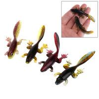 6pcs Tadpole Grub Bait Soft Worms Fishing Lure Attractive Fish Crab Fishing Bait
