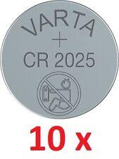 10 x Original VARTA CR2025 3V Lithium Knopfzelle Batterie CR 2025 10 Stück TOP