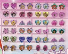 24 pairs stick on earrings stickers DISNEY PRINCESS gift temporary jewellery
