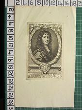 c1679 ANTIQUE PRINT ~ DOMINUS GULIELMUS TEMPLE EQUES BARONETTUS