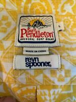 Surf Pendleton Reyn Spooner Size L Yellow Hawaiian Camp Shirt Limited Edition