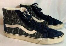 VANS high top skate shoes blue 3M scotchgaurd size 12