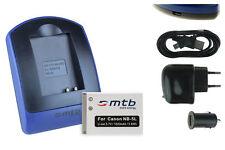 Batteria+Caricatore (USB) NB-5L per Canon PowerShot S110 (2012), SD700 IS
