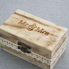 Wedding Ring Bearer Box, Wooden Ring Holder Box, Rustic Wedding Ring Box