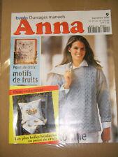 Anna Burda Ouvrages Manuels N° 9 1996 Point de croix Nounours Tricot Patron