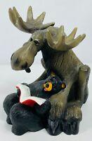 "Bearfoots Mooses Story Time w/Bear&Book Resin 6.5"" Figurine 2000 Big Sky Carvers"