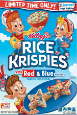 KELLOGG'S Rice Krispies 'Red & Blue' Toasted Rice Cereal 292 gr Original aus USA