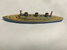 Vintage Tootsietoy 1940s Cast Passenger Transport Ship ~ Red, Yellow, Blue ~ USA