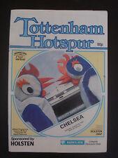 Tottenham Hotspur v Chelsea 1987-88 Official Programme