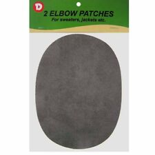 Two Faux-Suede Iron-On Elbow Patches 4.5  x 5.5 in - Grey