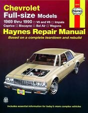 Reparaturhandbuch / -anleitung Chevrolet Caprice / Impala 1969 - 1990