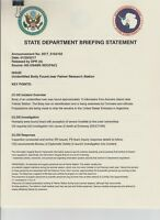 House of Cards Production Used Paperwork EP510 State Department Briefing File