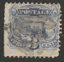 US 1875 3 cent Scott #125  Hard white paper without Grill  used ,see pictures