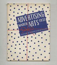 1933 Norman Bel Geddes ADVERTISING ARTS Gustav Jensen STREAMLINE Modern WPA DESI