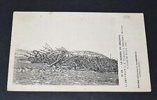 CPA 1916 AVIATION ZEPPELIN L.Z. 77 ABATTU REVIGNY MARNE ARGONNE GUERRE 14-18