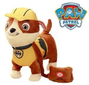 Paw Patrol Rubble Walking Singing Barking Electronic Plush Soft Toy Figure 24