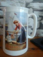 JACOBS BISCUITS  CERAMIC CREAM/ MILK JUG  [,LARGE ]14 CM TALL BY AMBERGLADE