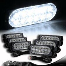 6X White 12-LED Car Truck Emergency Flash Warn Beacon Strobe Lights Universal 6
