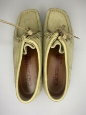 Clarks Originals Wallabees Beige Suede Leather Lace Up Low Chukka 6.5 M 35395