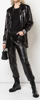 Nicole Miller Artelier BLACK Sequin Embellished Drawstring Jacket, US Medium