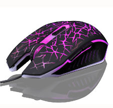 Purple 7D 2400DPI The Phantom Glare 6 Buttons Usb Gaming Mouse CF LOL RAZER WOW