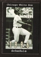 Chicago White Sox--Frank Thomas--1996 Pocket Schedule--WMVP