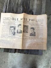 1938 Ole Miss Phi, Mississippi Alpha Of Phi Delta Theta Newspaper April 29