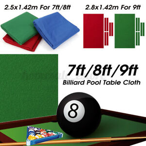 Professional Billiard Pool Table Cloth Mat Cover Felt Accessories For 7/8/9FT