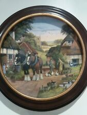 Royal Doulton Shire Horse Limited Edition Collectors Plate Off To The Fields