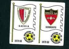 Fig. Calciatori Panini 1979-80 N.569 Scudetti Savoia/Sorrento Nuova Non Comune!
