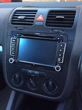 VW Golf Mk5 Jetta Bora Rabbit Carbon Fibre effect dash surround + air vents 05
