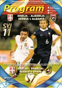 2014, SERBIA v ALBANIA ! OFFICIAL PROGRAMME ! EURO 2016 QUALIFIERS !