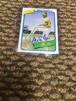 2005 Topps All-Time Fan Favorites Mike Norris Autograph Auto Card