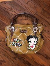 Betty Boop Handbag/Shoulder Faux Leather Bag Tan/Brown Cartoon