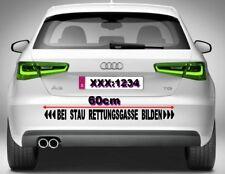 Rettungsgasse bilden 60cm Autoaufkleber Sticker Aufkleber Stau Unfall Raser JDM