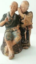 ANTIQUE CHINESE OLD COUPLE STATUETTE