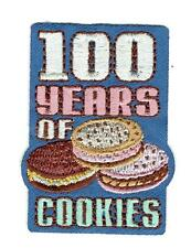 Girl 100 YEARS of COOKIES selling Anniversary Patches Crest Badge SCOUTS GUIDE