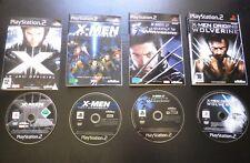 LOT 4 JEUX MARVEL Sony PLAYSTATION 2 PS2 : X-MEN (envoi suivi)