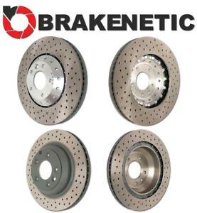 [FRONT+REAR] BRAKENETIC PREMIUM DRILLED Brake Rotors 390mm GTS Turbo BPRS98192