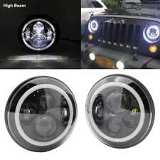 2 x For Suzuki Samurai SJ410 7'' Round LED Headlight High/Low Beam Signal DRL