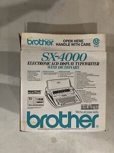 Brother SX-4000 Daisywheel Electronic LCD Display Typewriter Dictionary in Box