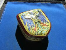 Vintage Enamel Coat Of Arms Trinket Box