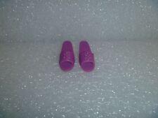Barbie Shoes -  OT Slide Sandals Fit Flat Footed Poseable Dolls Plum Purple