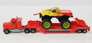 HOT WHEELS AUTO PALACE BIG RIGS HAULER W/ SNAKE BITE VERY NICE & CLEAN