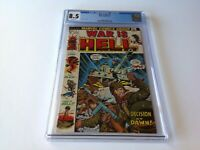 WAR IS HELL 1 CGC 8.5 WHITE PAGES DECISION AT DAWN MARVEL COMICS
