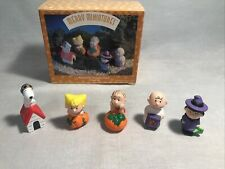 Hallmark 1996 Merry Miniatures Peanuts Pumpkin Patch 5pc Set Halloween