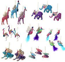 2020 Gisela Graham Fantasy Animal Resin Rainbow Christmas Tree Decoration Retro