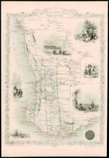 More details for 1851 original antique map of